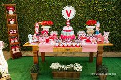 Cenário festas: Chapeuzinho Vermelho para a Valentina