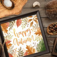 ★ HAPPY AUTUMN ★ feel the taste of hot cacao and sunny orange pumpkins, smell falling leaves, and cold air! It's a cozy sweater weather now! And harvest time wall art for the best time of the year..