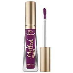 New Too Faced Melted Matte Liquid Lipsticks (Shade in photo: Unicorn) http://arzanbeauty.blogspot.ca/2016/03/too-faced-melted-matte-liquid-lipsticks.html