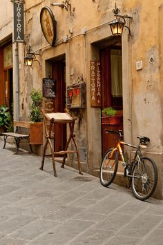 """Trattoria in Arezzo - walked by this every day on my way home to my lovely apartment...ahhh"" (I wish it was me who said that!)"