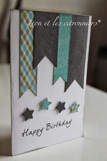 carte d'anniversaire - birthday card - Léon et les citronniers*