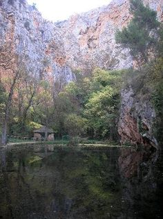 Monasterio de Piedra, Zaragoza, Spain. One of the best part was this perfectly clear pond at the end of the walk down the mountain from the monastery. I have never seen such clear water. It looked like the fish were flying.