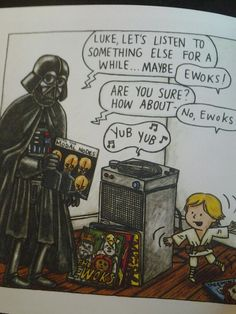 Darth Vader and son - by Jeffrey Brown Star Wars Comics, Star Wars Humor, Vader Star Wars, Lego Star Wars, Darth Vader And Son, Star Wars Fan Art, Ewok, Calvin And Hobbes, Geek Out