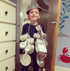 Saucepan Man costume from the Magic Faraway Tree books by Enid Blyton for World Book Day