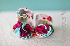 Hydrangea Maryjane by GraciousMay on Etsy... This lady on etsy makes adorable girly stuff for babies/little girls!