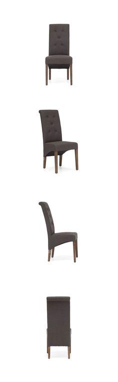 La mejor opción en silla para las personas que disfrutan de los muebles eclécticos, ya que combina acertadamente toques del estilo clásico, así como del contemporáneo. Fabricada en madera de roble y tapizada en tela lino en color gris carbón o beige. Dimensiones: 45cm x 66cm y una altura 104cm.  www.bodegademuebles.com