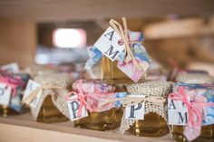 DIY Honey Favor | Rustic Barn Wedding at Kitz Farm, Seacoast NH | http://www.kateandkeithphotography.com/weddings/rustic-barn-wedding-at-kitz-farm/