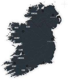 The Wild Atlantic Way is the longest defined coastal touring route in the world stretching 1500 miles along Ireland's west coast from Donegal in the North to Cork in the South.