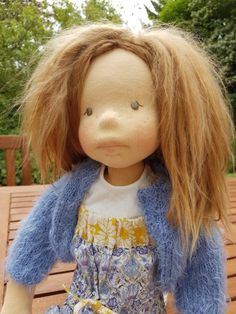 My Hermione Natural fibre artist doll Photo Petra J