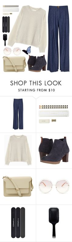 """""""Butterflies in Tummy"""" by sweet-jolly-looks ❤ liked on Polyvore featuring Raquel Allegra, Kate Spade, Étoile Isabel Marant, Gabor, Marni, Chloé, MAC Cosmetics, GHD, casual and simple"""