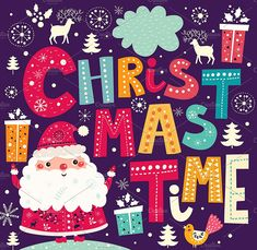 Illustrations with Santa Claus by MoleskoStudio on @creativemarket