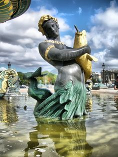 Paris - fountain detail at the Concorde square