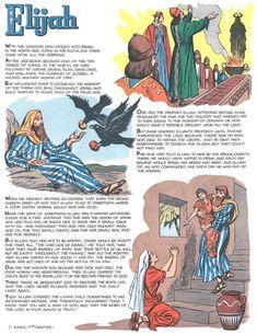 Professor H's Wayback Machine: Stories from the Bible, 1962 Bible Story Crafts, Bible Stories For Kids, Bible Lessons For Kids, Bible For Kids, Toddler Sunday School, Sunday School Lessons, Sunday School Crafts, Pulp Fiction, Elijah Bible