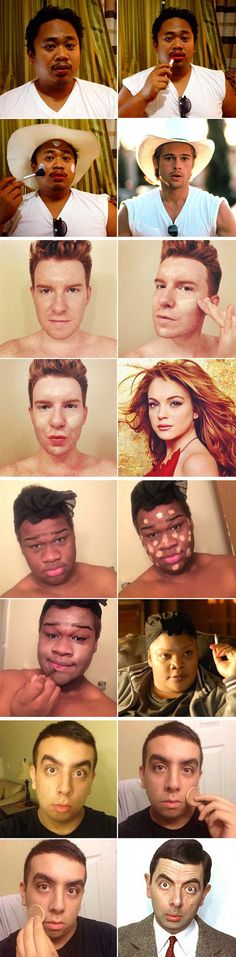People transforming into celebs - The Michael Jackson one is hilarious!  This Is Out Of Control