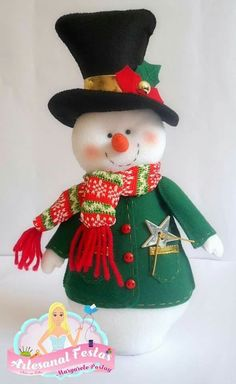 Christmas Snowman, Christmas Time, Christmas Crafts, Christmas Decorations, Christmas Ornaments, Christmas Sewing Projects, Projects For Kids, Art Projects, Snowman Crafts
