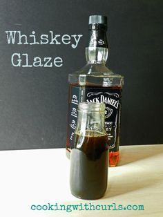 Whiskey Glaze | So here it is folks, my version of Whiskey Glaze.  It is perfect on those burgers, which I still need to re-post here, and chicken.  I am sure it would be just as delicious on salmon, so that recipe may end up here as well! As you can tell by the photo, I used Jack Daniels…..  | By: cookingwithcurls.com