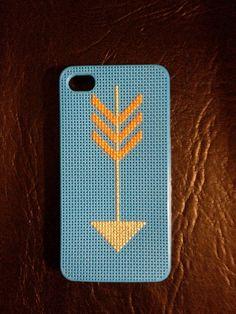 Cross Stitch iphone 4/4s Arrow Case. $25.00, via Etsy.