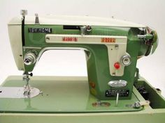 NEW HOME Vintage Sewing Machine in Case NICE! shopgoodwill.com: Bid at $36.00 on 6/28/2013. Auction ends on 7/1/2013
