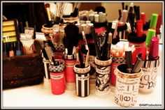Organize your makeup with repurposed pill bottles!