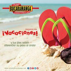 ¡Llegaron las #vacaciones y tus #pies saben diferenciar su paso al andar! www.calzadobucaramanga.com