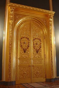 Great Kremlin Palace doors at the Moscow Kremlin, Russia.