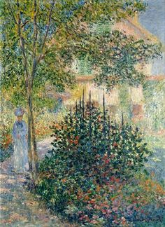 Camille Monet in the Garden at the House in Argenteuil - Claude Monet 1876