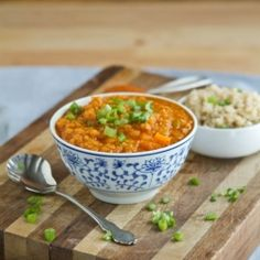 An easy and delicious coconut curry lentil soup! #foodgawker