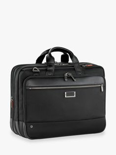 Briggs & Riley AtWork Large Expandable Brief, Black at John Lewis & Partners Phillips Screwdriver, 3 Letter, Leather Handle, John Lewis, Travel Style, Two By Two, 17 Laptop, Stuff To Buy, Satchels