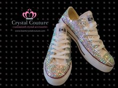 Silver Crystal converse trainers www.iwantcrystalcouture.com Converse  Boots 1678135e5