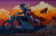 Chasing the sun  95x150  Natalia Rak & Mateusz Gapski
