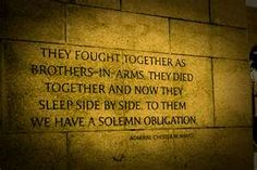 Engraved on the wall of World War II Memorial
