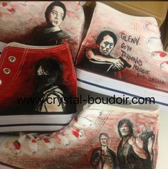 Custom Painted The Walking Dead Converse-Like by CrystalBoudoir