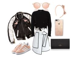 """""""It's Just Mae"""" by taemeilin ❤ liked on Polyvore featuring Le Specs, Hollister Co., RED Valentino, Chicwish, adidas Originals, Casetify and Kate Spade"""