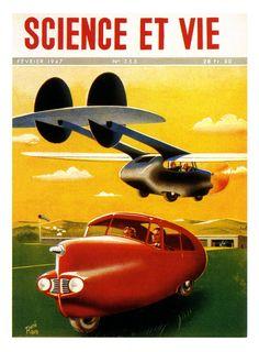 Theodore Hall's Aerocar.  Spaceship, pulp retro futurism back to the future tomorrow tomorrowland space planet age sci-fi airship steampunk dieselpunk