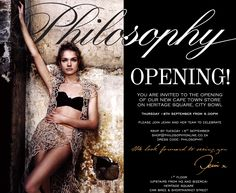 Invitation to Philosophy Heritage Square opening You Are Invited, African Design, Jenni, Clothing Stores, Philosophy, Wonder Woman, Invitations, Superhero, Button