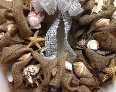 burlap seashells - Google Search