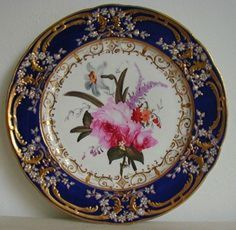 Antique Coalport Porcelain Plate painted by Thomas Brentnall C1820