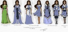 Avatar the last airbender katara<< these are some of her best outfits in my opinion Water Tribe, Korra Avatar, Team Avatar, Avatar Airbender, Zuko, Water Bending, Avatar World, Avatar Series, Fanart