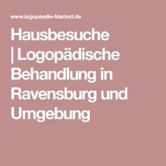 Hausbesuche  Logopädische Behandlung in Ravensburg und Umgebung