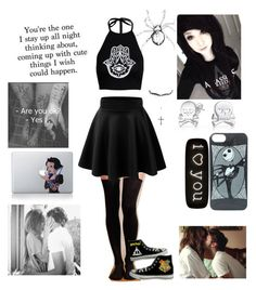 """bored during school"" by lifesgrates ❤ liked on Polyvore featuring Hansel from Basel, Boohoo, Converse, Bling Jewelry, Seletti and Disney"