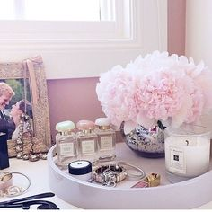 Makeup Organization | Dressing Table | Decoration | Vanity Table | Romm | Bedroom | Home | Design | Closet | Penteadeira | Quarto