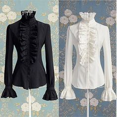 Victorian Women, Victorian Fashion, Victorian Shirt, Long Sleeve Tops, Long Sleeve Shirts, Ruffle Shirt, Frilly Shirt, Shirt Dress, Formal Shirts