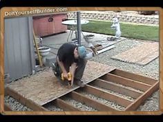 How The Pros Build A Shed Sample- 1 of 6 Setting Footings  Building Floor