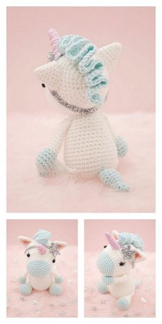 Crochet Unicorn Pattern Free, Crochet Horse, Crochet Amigurumi Free Patterns, Crochet Dolls, Free Crochet, Magic Ring Crochet, Single Crochet Stitch, Crochet Projects, Hello Dear