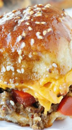 Cheesy Party Burgers (AKA Diamond Burgers)
