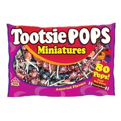 For those of you who want just a taste. Grab this bag of miniature sized Tootsie Pops. Same as the original pop, except in a mini size. Same delicious, assorted flavors and same tootsie roll center. These miniature Tootsie Pops are a great idea for Halloween. Nut, gluten and peanut free. Snack Recipes, Snacks, Bulk Candy, Birthday List, Corn Syrup, Pop Tarts, Raspberry, Miniatures, Sweets