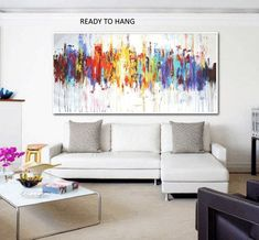 Art Painting wall art large painting abstract painting acrylic painting oil painting from jolina anthony signet express shipping Green Paintings, Colorful Paintings, Your Paintings, Original Paintings, Large Painting, Oil Painting Abstract, Grand Art Mural, Images D'art, Hand Painted Canvas