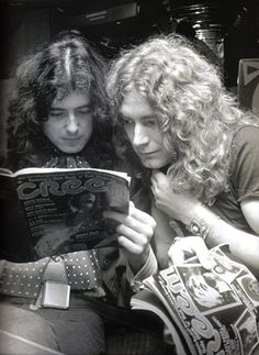 Jimmy Page and Robert Plant probably reading about their antics in Creem magazine. Led Zeppelin