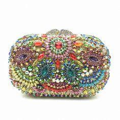 ForUForM Luxury Diamond Women Evening Bag Elegant  Handbag Crystal Day Clutches Messenger Bag High Quality Shoulder Bag LI-1569