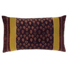 Tatiana Velvet Cushion Cover - Charoite/Citrine Stripe